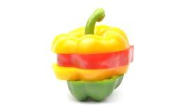 五颜六色的新鲜的查出的辣椒粉 库存照片