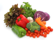 五颜六色的新鲜的组蔬菜 免版税库存照片