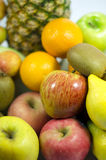 五颜六色的新鲜水果特写镜头 免版税库存照片