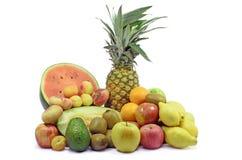 五颜六色的新鲜水果静物画 库存图片