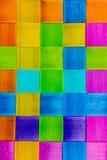 五颜六色的方形的塑料 免版税库存照片