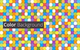 五颜六色的方形的空白的背景-导航设计观念 10 eps 免版税库存照片
