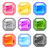 五颜六色的方形的金刚石 免版税库存照片