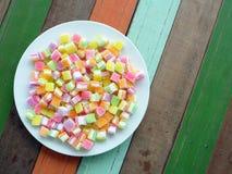 五颜六色的方形的jellys 库存图片