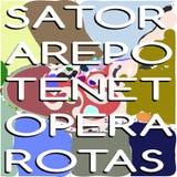 五颜六色的方形的sator 免版税库存照片
