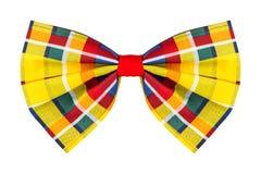 五颜六色的方格的蝶形领结 免版税库存照片
