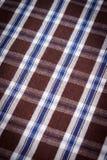 五颜六色的方格的衬衣当背景纹理 库存图片