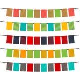五颜六色的旗子和旗布诗歌选装饰的 图库摄影