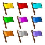 五颜六色的旗子 库存图片