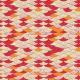 五颜六色的无缝的抽象波动图式 库存照片