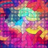 五颜六色的无缝的条纹背景,彩虹 库存图片