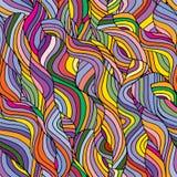 五颜六色的无缝的波浪背景 免版税库存图片