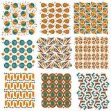 五颜六色的无缝的盖瓦纹理收藏 库存图片