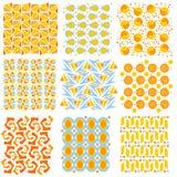 五颜六色的无缝的盖瓦纹理 免版税库存图片