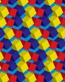 五颜六色的无缝的立方体样式 免版税库存照片