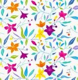 五颜六色的无缝的花卉样式。 库存图片
