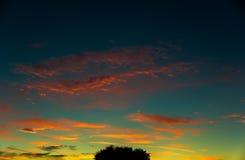 五颜六色的日出 库存照片