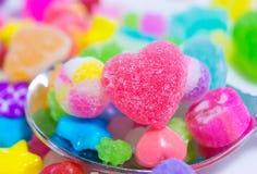 五颜六色的日本糖果 免版税库存照片