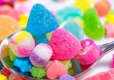 五颜六色的日本糖果 免版税库存图片
