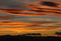 五颜六色的日落 图库摄影