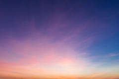 五颜六色的日落 库存照片