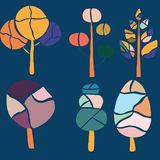 五颜六色的时髦树,传染媒介例证 向量例证
