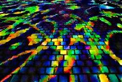 五颜六色的明亮的抽象背景,在石头的明亮的强光 向量例证