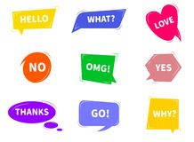 五颜六色的明亮的讲话泡影 向量例证