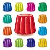 五颜六色的明胶果冻分类 免版税图库摄影
