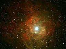 五颜六色的星云空间 库存图片