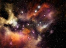 五颜六色的星云空间 免版税图库摄影