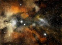 五颜六色的星云空间 免版税库存照片