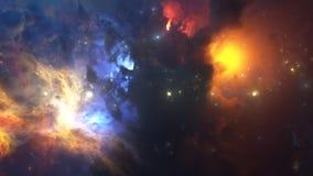 五颜六色的星云 免版税库存照片