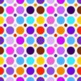 五颜六色的星无缝的样式 例证 免版税库存照片