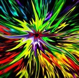 五颜六色的星爆炸 库存照片