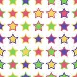 五颜六色的星的无缝的样式 库存图片