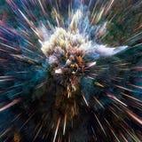 五颜六色的星系云彩和大轰隆提取星纹理 免版税库存图片