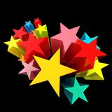 五颜六色的星 库存照片