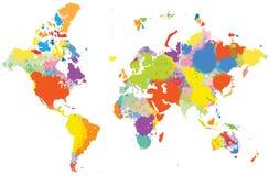 五颜六色的映射世界 库存图片