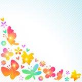 五颜六色的春天背景设计 向量 库存例证