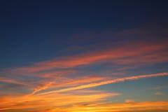 五颜六色的晚上skyscape 库存照片