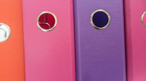 五颜六色的曲拱文件 免版税库存照片