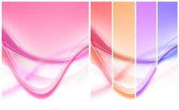 五颜六色的曲线数据条 库存图片
