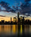 五颜六色的曼哈顿日出 免版税库存图片