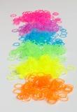 五颜六色的有弹性橡胶 免版税库存照片