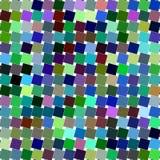 五颜六色的有角方形的样式设计背景 皇族释放例证