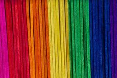 五颜六色的木冰棍棍子 免版税图库摄影
