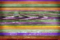 五颜六色的木墙壁背景 免版税库存照片