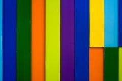 五颜六色的木墙壁背景4 免版税图库摄影