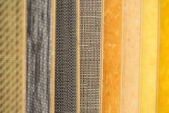 五颜六色的木条地板 免版税库存图片